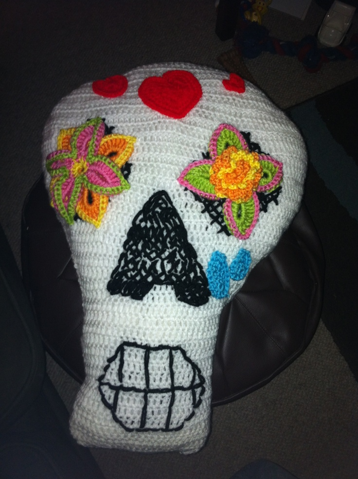 Sugar skull crochet cushion | Crochet and Craft Ideas ...