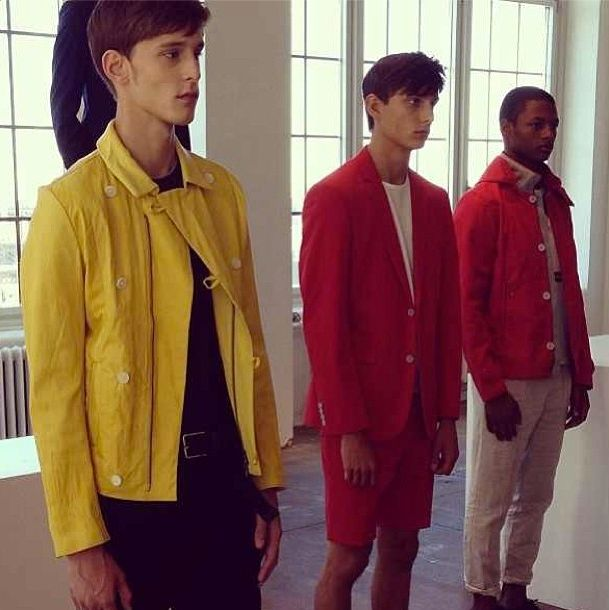Our menswear editor @Matt feniger spotted bold primary brights at @donnakarandkny men's show today #nyfw #wgsnlive