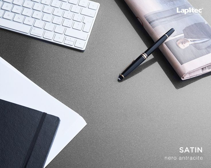 Give your office that extra bit of shine. Lapitec® Satin in Nero Antracite is a luxurious surface for carrying out your daily tasks.