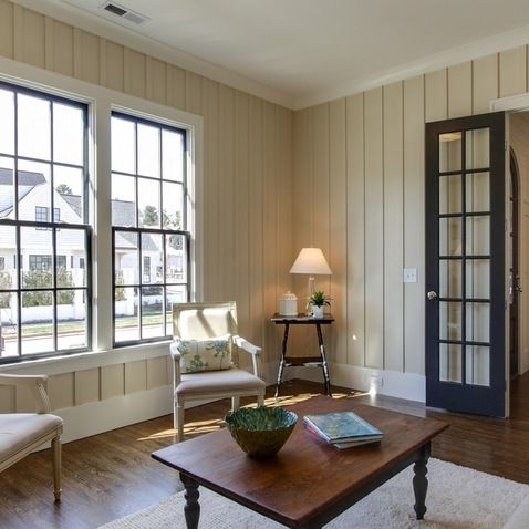 Easy DIY: Painting Panelling : Astounding Traditional Living Room Painting  Panneling Dark Contrast And Beige Painted Panels With Traditional.