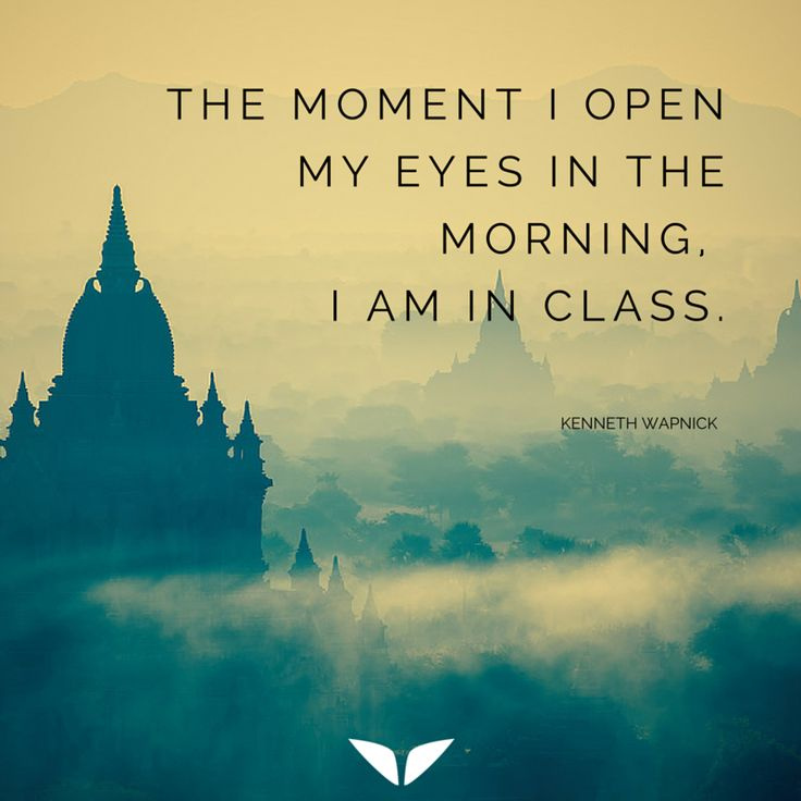 The moment I open my eyes in the morning, I am in class