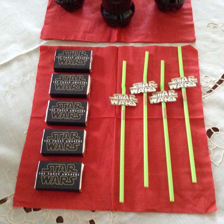 Bombillas y chocolates personalizados