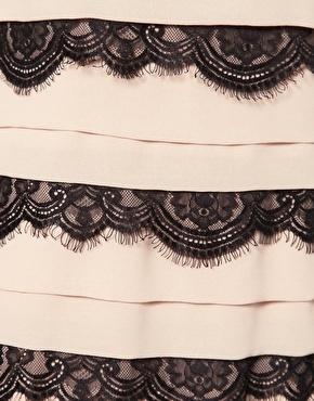 Enlarge Lipsy Lace Trim Pleat Shift Dress