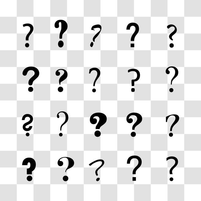 وضع أيقونة علامة استفهام معزولة مجموعة رمز الايقونات Png والمتجهات للتحميل مجانا Marks