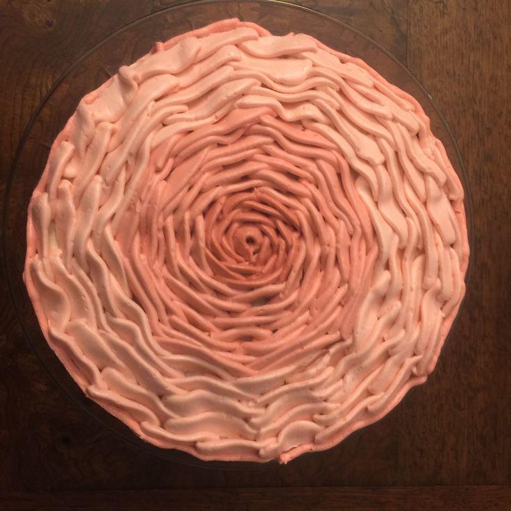 Rose petal cake for Eliz