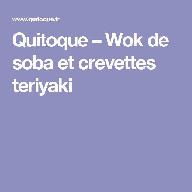 Quitoque – Wok de soba et crevettes teriyaki