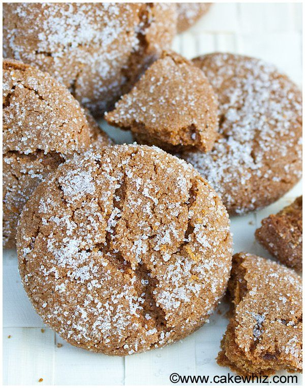 These easy molasses crinkle cookies are sure to be a hit at any Christmas party! Crispy and sugary on the outside but soft on the inside. Easy recipe too!