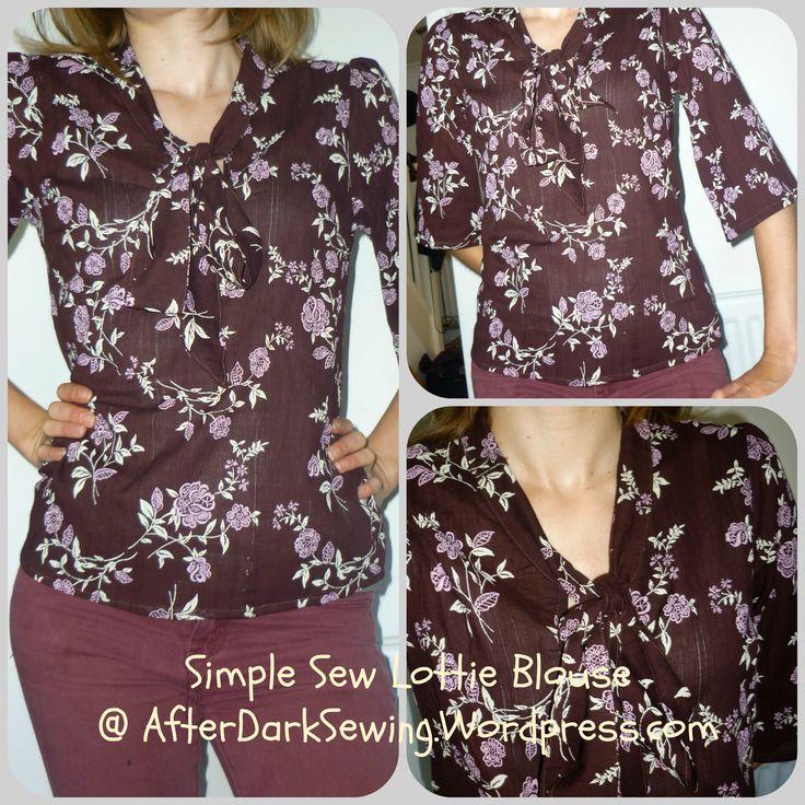 My Simple Sew Lottie Blouse https://afterdarksewing.wordpress.com/2014/07/15/simple-sew-lottie-blouse/