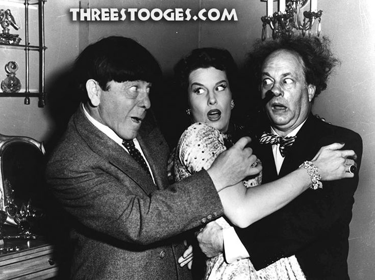 """""""Here's how. I know how."""" The Three Stooges are entangled in a love triangle with Jean Willes in Gypped In The Penthouse released on March 10, 1955. Enjoy a video clip and more on ThreeStooges.com"""
