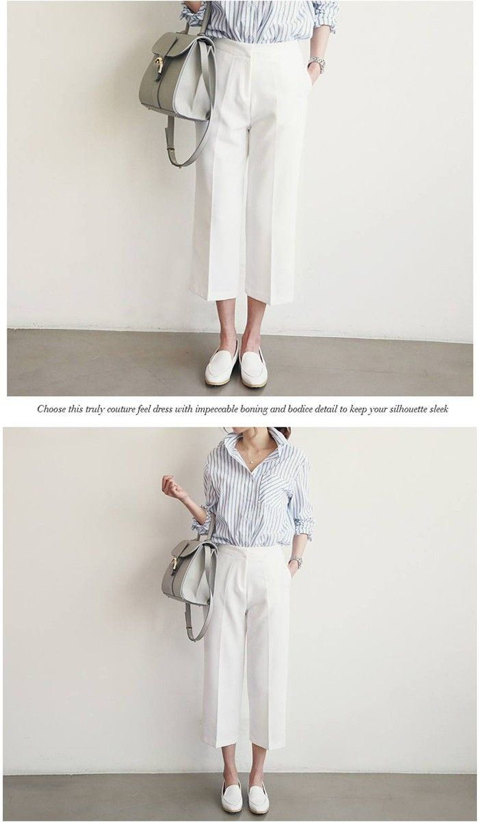 白 ガウチョパンツ ホワイト/ガウチョパンツ 春/白 ワイドパンツ :271100135:Aco Design(アコデザイン) - 通販 - Yahoo!ショッピング