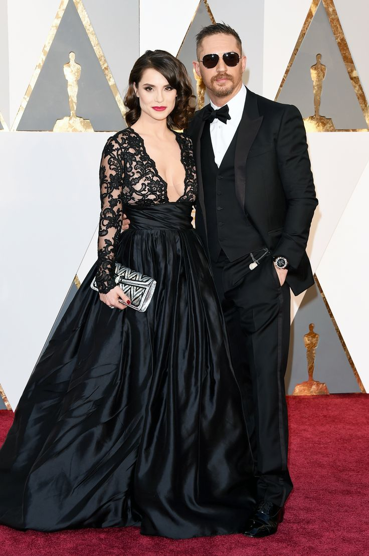 Tom Hardy's Gorgeous Wife Charlotte Riley Stole His Thunder on the Oscars Red Carpet from InStyle.com