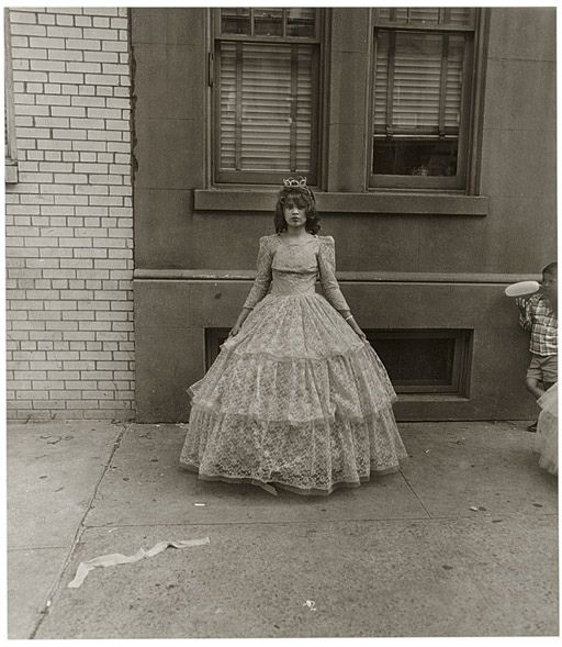 Diane Arbus, Young Girl after the Puerto Rican Parade, NYC, 1963