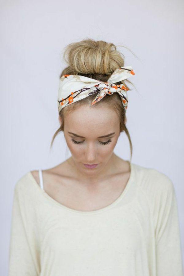 bandeau cheveux de couleurs neutres