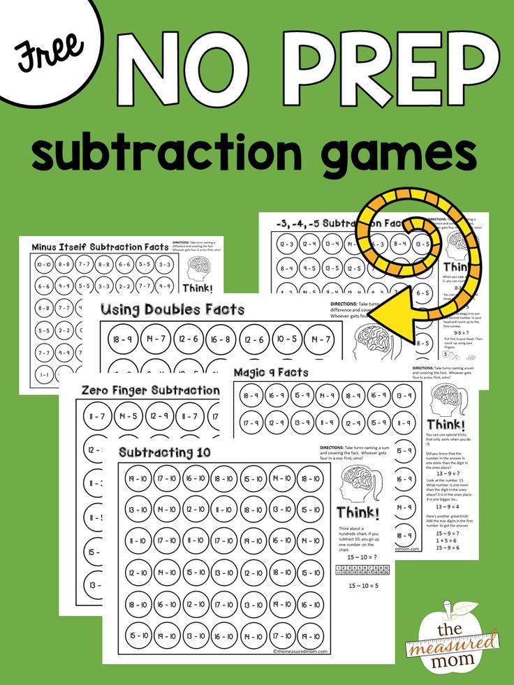 Teach your students subtraction strategies to master the basic facts with this set of FREE games!