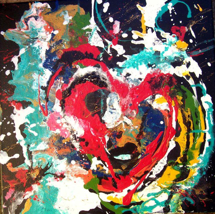 """Acrilico su tela 40x40 """"sei nel mio cuore"""" - by MCDea"""