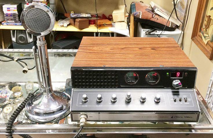 Vintage Cobra 142GTL CB Radio w/Astatic D-104 Desk Tabletop Microphone #Cobra