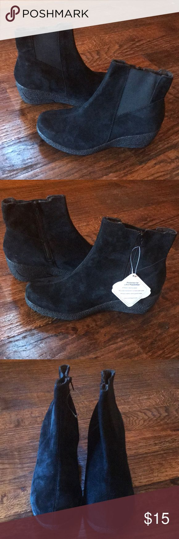 Ankle Boots Brand New Women's Suede Ankle Boots with elastic sides size 8 Propet Shoes Ankle Boots & Booties