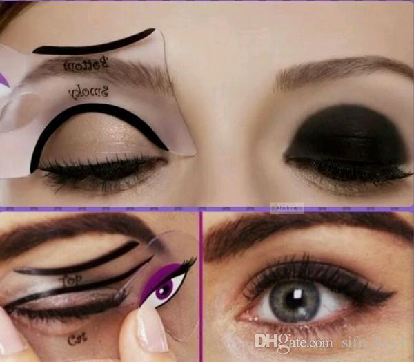 Cat Eyeliner Stencil Makeup Eyeliner Stencils Models Card Makeup Tools Eyebrow Threading Video Eyebrows Makeup From Sifu_key1, $0.68  Dhgate.Com