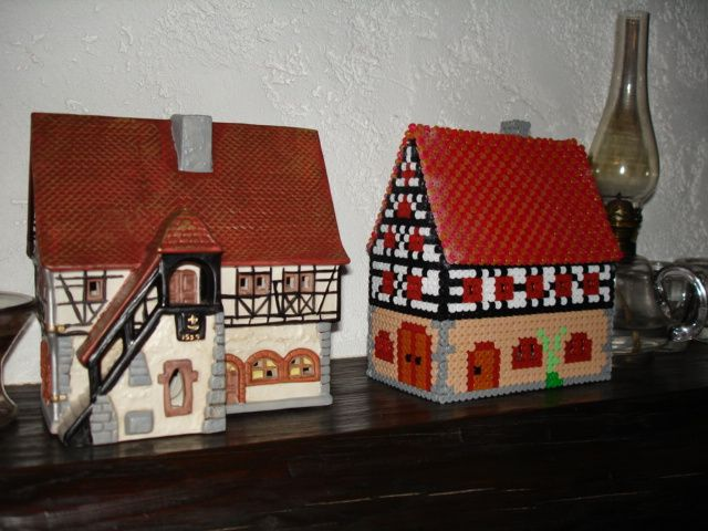 17 best images about casas hama beads on pinterest for 3d fachwerk