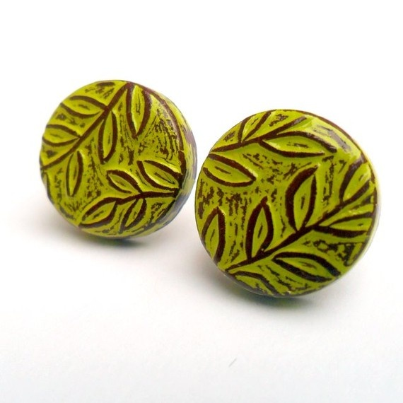 LOVE THIS SHOP!!!    Lime Green Jungle Fever Vine and Leaf  Pattern by blockpartypress, $25.00