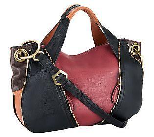orYANY Pebble Leather Lian Satchel w/ Convertible Strap ...