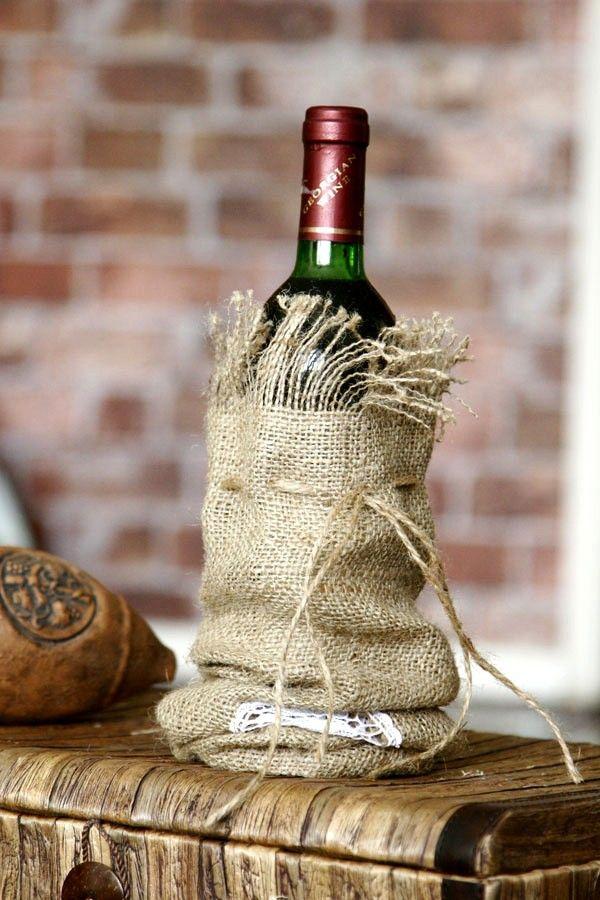 .Burlap Wine, Gift Bags, Wine Gift, Wine Sleeve, Wine Holders, Burlap Bags, Red Wines, Wine Bags, Hostess Gift