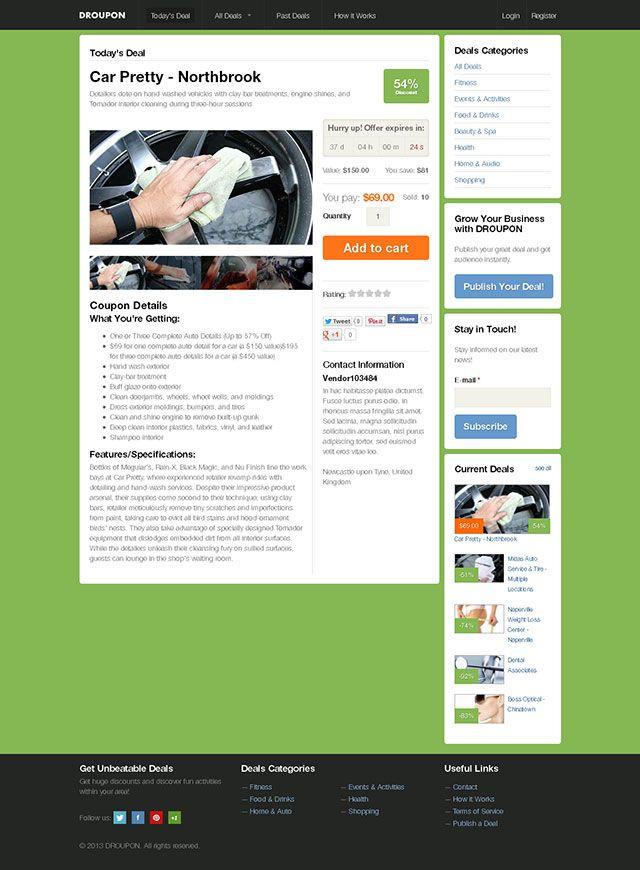 Drupal theme to build coupon deal websites.