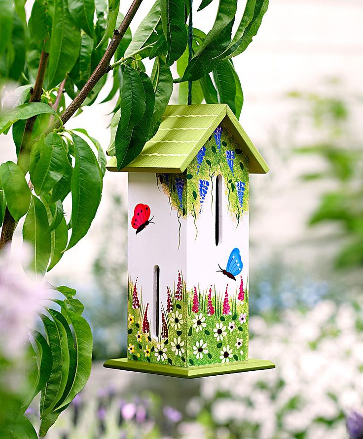 A butterfly house for the butterflies to rest in!