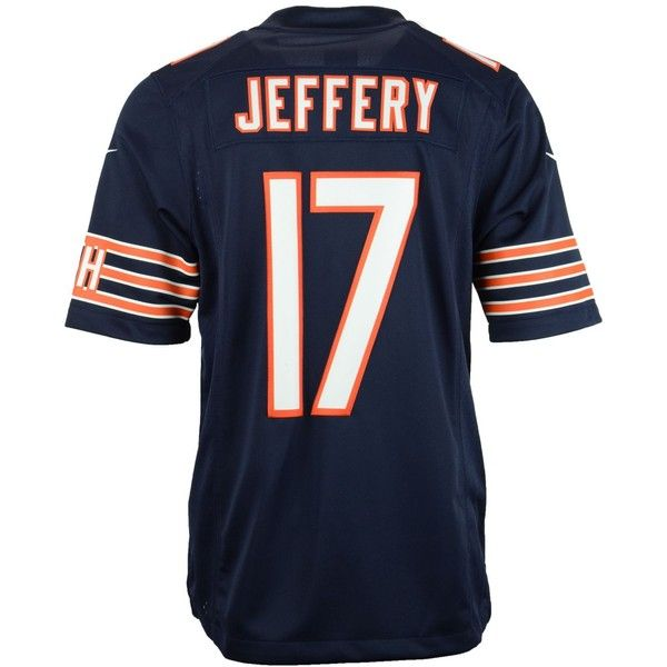Nike Men's Alshon Jeffery Chicago Bears Limited Jersey ($150) ❤ liked on  Polyvore featuring