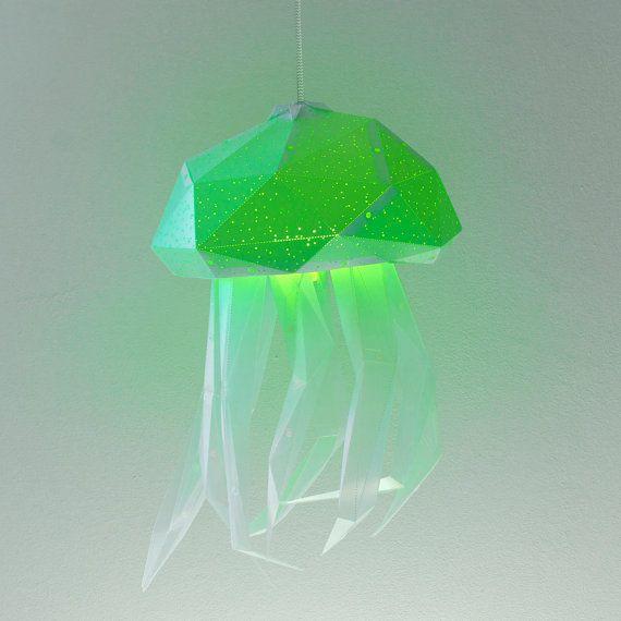 Jellyfish Color-Changing Lampshade Pendant Light от VasiliLights