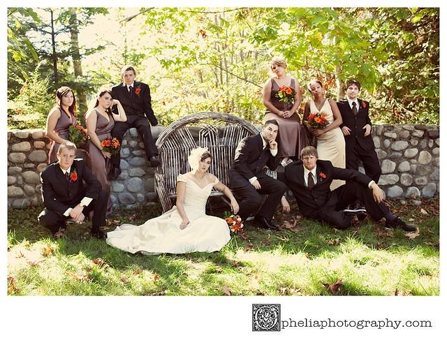 Bride Groom Wedding Party Goomsmen Bridesmaids