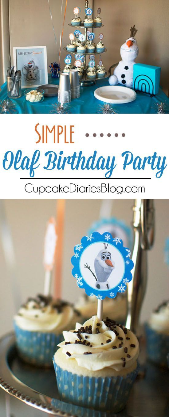 Simple Olaf Birthday Party - A darling Olaf party without all the work! Includes two FREE printables!