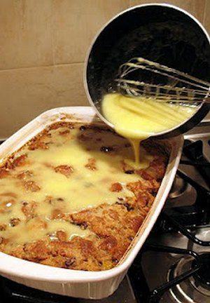 Grandma's Old-Fashioned Bread Pudding with Vanilla Sauce   Bake a Bite