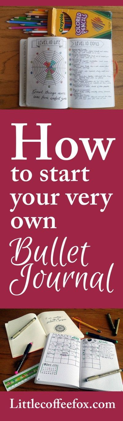 How to Start Your Very Own Bullet Journal - Little Coffee Fox Come visit us at www.nacjw.com