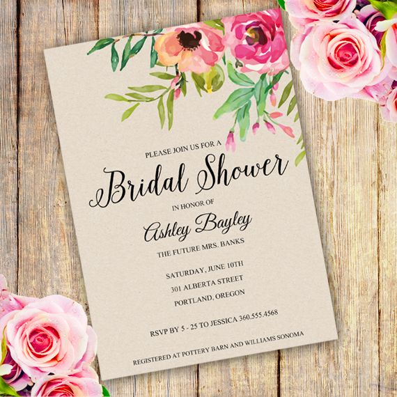 23 best Bridal shower invitations templates images on Pinterest - bridal shower invitation templates