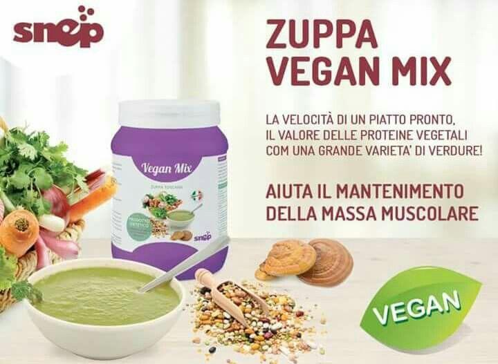 Snep Vegan mix è una zuppa di verdure calibrata per sostituire un pasto e per apportare tutti gli elementi necessari ed essenziali per il benessere del nostro organismo.