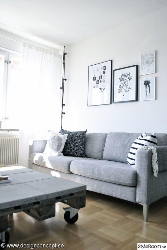 soffa,grå soffa,vardagsrum,kuddar,soffa karlstad