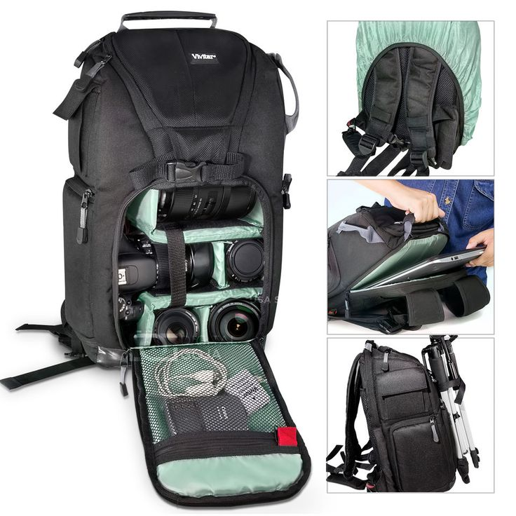 Camera Backpack Laptop Bag Case For Nikon D7100 D5500 D5200 D3300 D3200 D3100