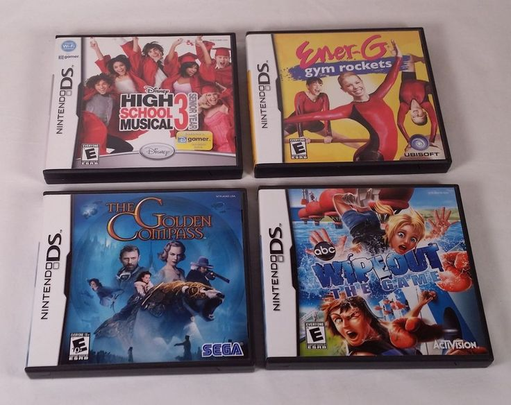Nintendo DS Games - Lot of 4 - High School Musical 3 / Golden Compass / Wipeout