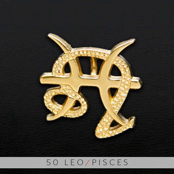 50 Leo and Pisces Gold Unity Pendant by UnityDesignConcepts, $99.99