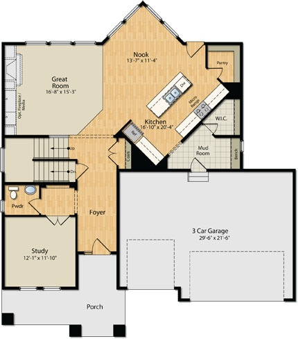 the main level in our bristol floor plan check out that openness