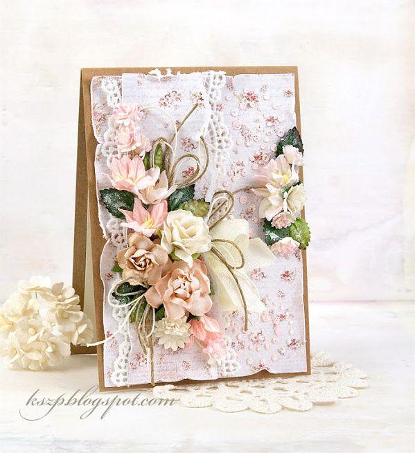 Открытка пионами, как наклеить цветы на открытку скрапбукинг