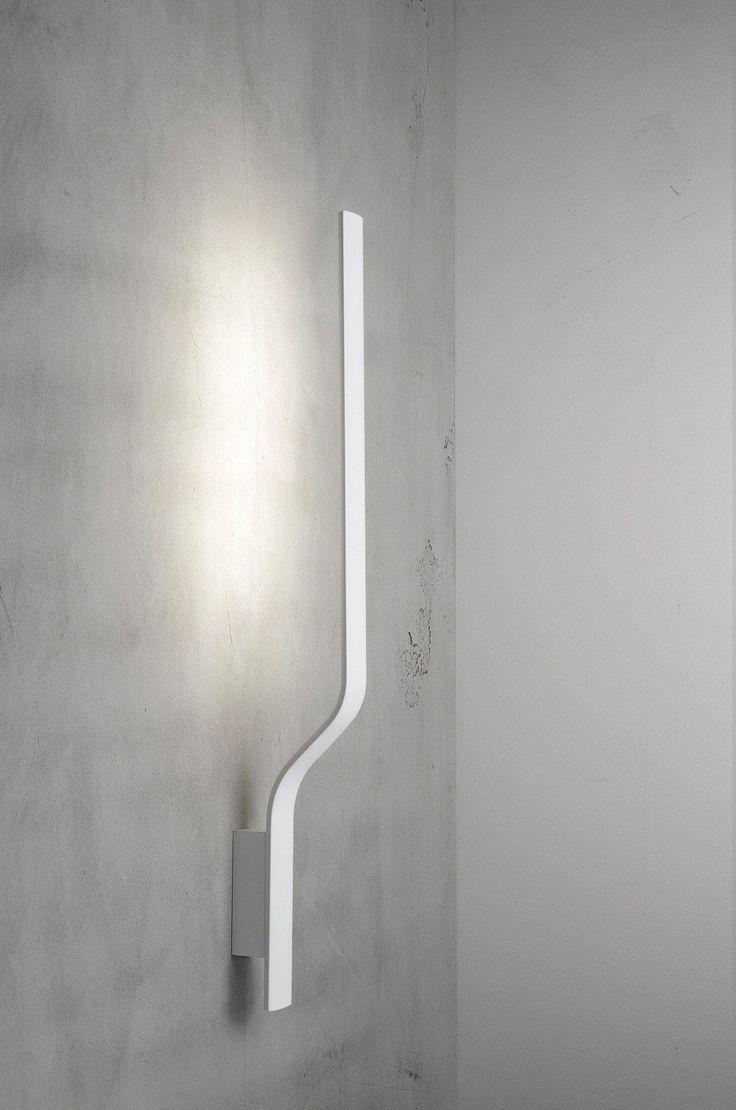 LED powder coated aluminium wall lamp SURFIN' | Wall lamp - millelumen