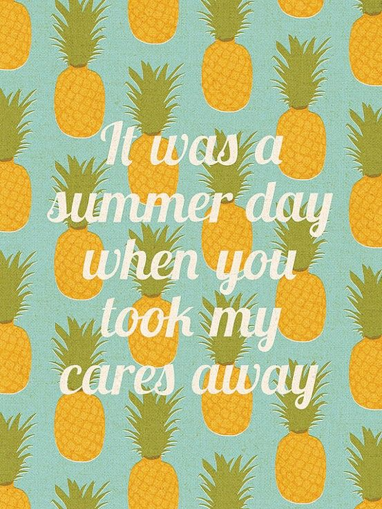 It was a summer day when you took my cares away #summertime #summerlove
