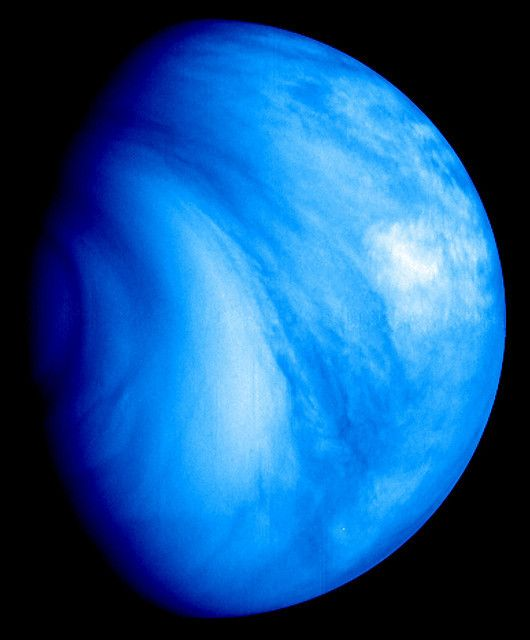 Our Neighbor Venus ESA's Venus Express mission, launched to Venus in 2005, took this false-colour ultraviolet image with its Venus Monitoring Camera in July 2007 from a distance of 35 000 km.