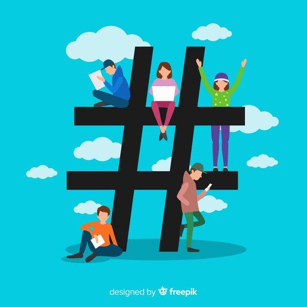 Download Flat People Social Media Hashtag Symbol Background For Free In 2020 Social Media Hashtag Social Media Logos Social Media Icons