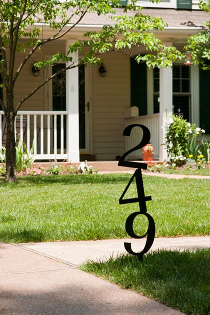 Best 25 address numbers ideas on pinterest diy house for House number designs