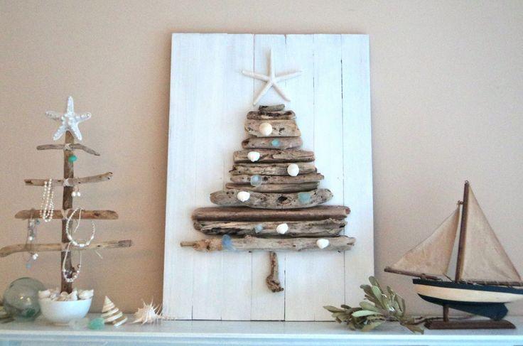 beach tree & decor: Driftwood Trees, Xmas Trees, Australian Christmas, Beaches Christmas, Holidays Ideas, Christmas Decor, Drift Wood, Christmas Trees, Coastal Christmas