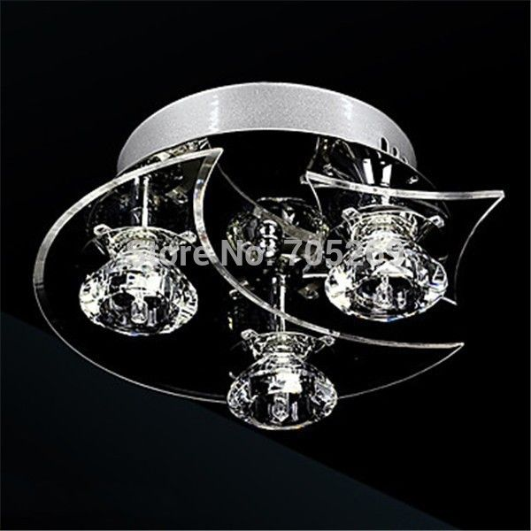 LED Fixture Chandeliers led crystal flush mount 3 lights modern minimalist metal electroplated Bulb Included family room décor ** AliExpress Affiliate's Pin. Visit the image link more details.