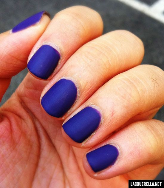 Love this matte finish over the electric blue! | Nail ...